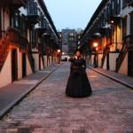 Loreta walks alone